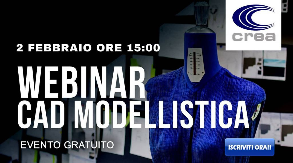 webinar, Crea Solution, modellistica 3D, scuola di moda