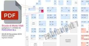 Job & Orienta 2019 Verona, Mappa Padiglione 7 percorso Blu