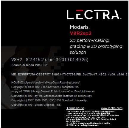 lectra Modaris V8r2 Scuola di Moda Vitali