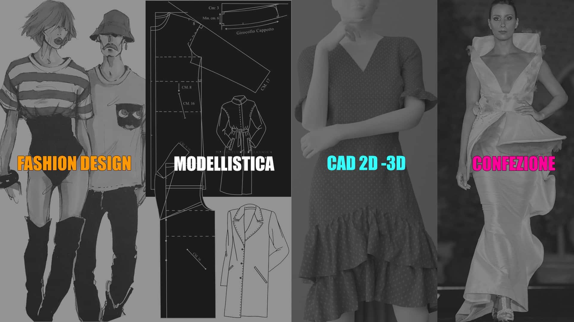 Le Professioni più richieste nel settore Moda, Fashion Design, Modellistica, CAD, Confezione