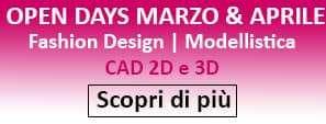 Open Days Scuola di Moda Vitali, informati subito e partecipa alle lezioni in Fashion Design, Modellistica, CAD 2D e 3D